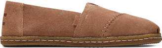 Toffee Suede with Shearling Women's Alpargata Crepe Espadrilles