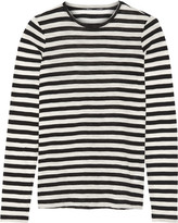 Proenza Schouler Striped Slub Cotton-jersey Top - Black