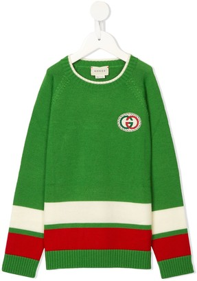 Gucci Kids striped GG jumper