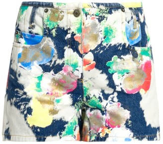 Moschino Abstract Print Denim Shorts