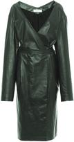 Nina Ricci Green Paper Leather Coat