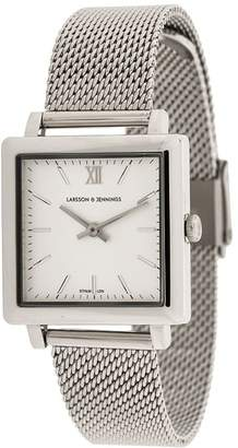 Larsson & Jennings square face mesh strap watch