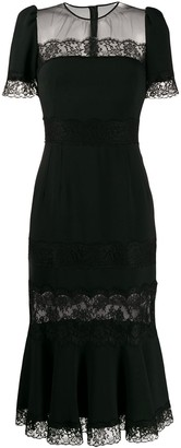 Dolce & Gabbana Lace Sheer Panel Dress