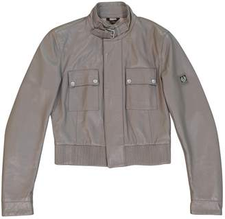 Belstaff Grey Leather Leather jackets