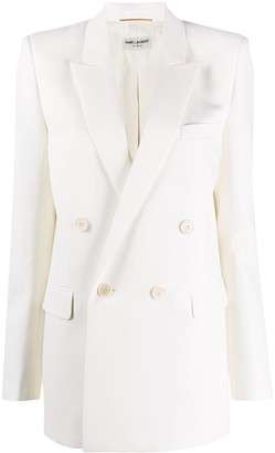 Saint Laurent Double-Breasted Tailored Blazer