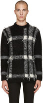 Burberry Black Mohair Check Sweater