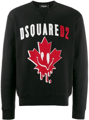 DSQUARED2 Smiley Leaf Sweater