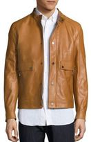Salvatore Ferragamo Lambskin Leather Jacket