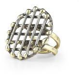 Anndra Neen Cage Circle Ring