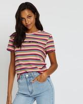 Tommy Jeans Linear Logo Stripe Tee - Women's