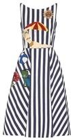 Dolce & Gabbana Striped Cotton Dress With Appliqué