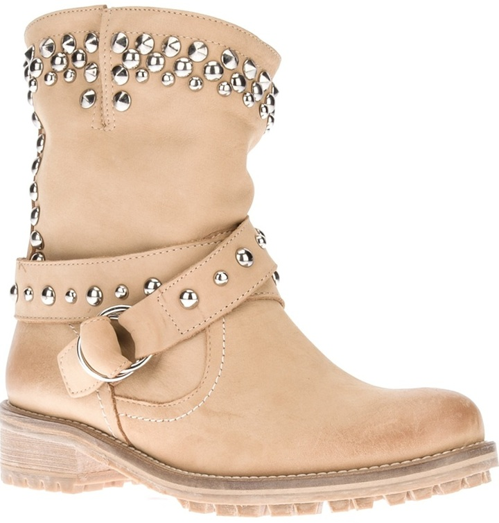 Chiara Ferragni studded buckle boot