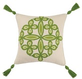 Trina Turk 20x20 Desert Medallion Embroidered Pillow - Green