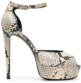 Giuliano Galiano Elle python-effect sandals