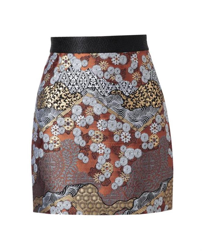 Proenza Schouler Oriental Brocade Miniskirt