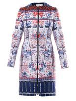 Moncler M Birdy jacquard down coat