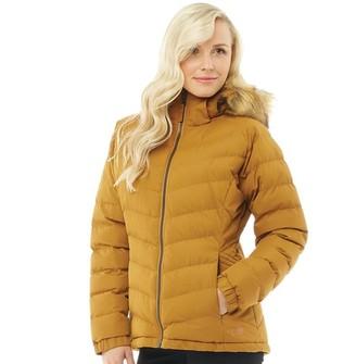 Trespass Womens Nadina Padded Hooded Jacket Golden Brown