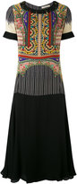 Etro fringed layered dress - women - Silk - 46