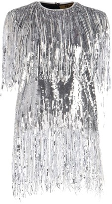 MSGM Fringed Sequin Sleeveless Top