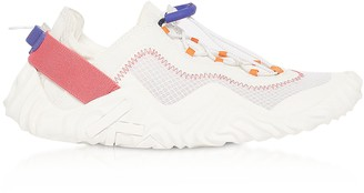 Kenzo White Mesh Wave Low Top Sneakers