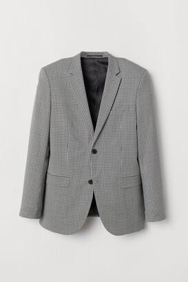 H&M Slim Fit Checked Wool Blazer