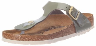 Birkenstock Tongs Gizeh Birko-flor Vernis Kaki Womens Sandal