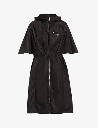 Prada Ladies Black Short-Sleeved Re-Nylon Jacket, Size: 4