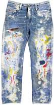 Diesel Painted Stretch Denim Jeans