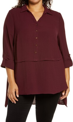 Adyson Parker Roll Sleeve High/Low Tunic