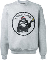 Markus Lupfer embroidered gorilla logo sweatshirt