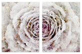 Oliver Gal Winter New York Flower Diptych (Canvas)
