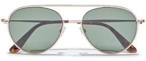 Tom Ford Keith Aviator-style Gold-tone Sunglasses
