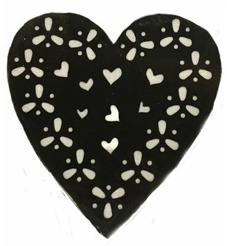 Creative Motion Battery Operated 10-Light LED Heart Night Light Creative Motion Color: Black
