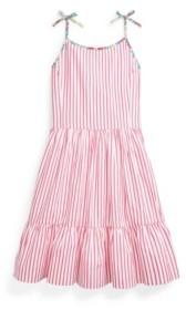 Polo Ralph Lauren Big Girls Striped Dress