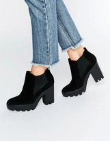 Calvin Klein Jeans Sandy Suede Chunky Heeled Ankle Boots