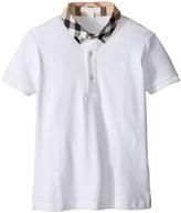 Burberry William Check Collared Short Sleeve Shirt Boy's Short Sleeve Knit
