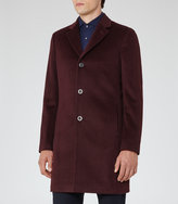 Reiss Reiss Angel - Wool Epsom Coat In Purple
