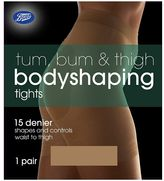 Boots 15 Denier Tum, Bum And Thigh Bodyshaping Nude Tights 1 Pair Pack