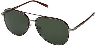 Salvatore Ferragamo SF181SM (Vintage Tortoise/Solid Blue) Fashion Sunglasses