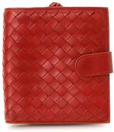 Bottega Veneta Pre-Owned Red Intrecciato Compact Wallet