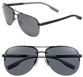 BOSS Men's 61Mm Sunglasses - Matte Black