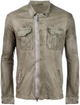 Giorgio Brato zip up jacket - men - Cotton/Lamb Skin - 48