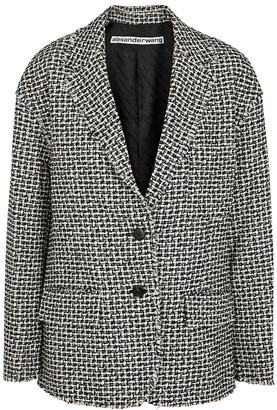 Alexander Wang Monochrome boucle-tweed blazer