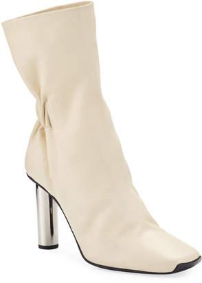 Proenza Schouler Ruched Leather Mirror-Heel Boots