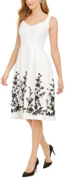 Donna Ricco Donna Rico Floral Hem A-Line Dress