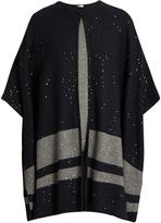 Brunello Cucinelli Sequin-embellished cashmere poncho