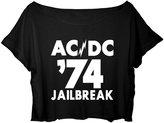 ASA Women's Crop Top Ac/dc Shirt Hard Rock Acdc 74 Jailbreak T-shirt