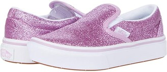 Vans Kids ComfyCush Slip-On (Little Kid) ((Glitter) Orchid/True White) Girl's Shoes