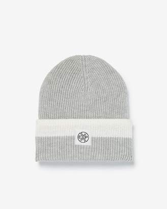 Express Color Block Turn-Back Beanie