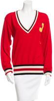Jil Sander Virgin Wool Varsity Sweater